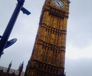 Big Ben, clock, and clouds image