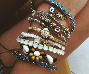 bracelet, summer, and jewelry image