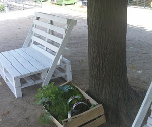 chair, diy, and garden image
