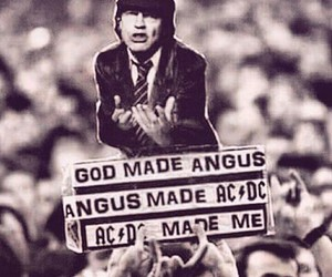 ac dc, angus young, and god image