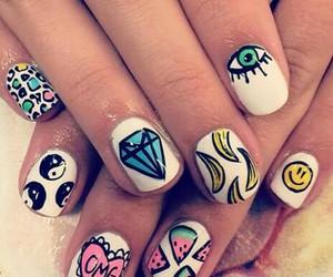 nails, banana, and diamond image