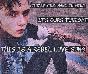 black veil brides, rebel love song, and music image