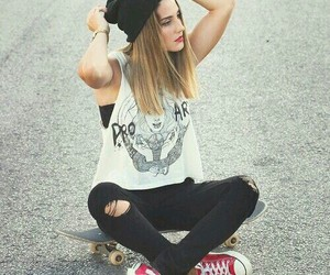 girl, style, and skate image