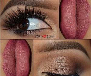eye makeup, lips, and makeup image