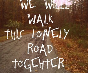 fall, quote, and road image