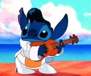 stitch, disney, and elvis image