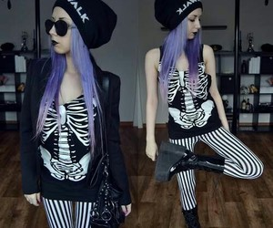 pastel goth, pastel, and hair image