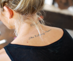 girl, tattoo, and blonde image