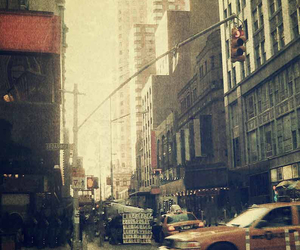 day, ny, and taxi image
