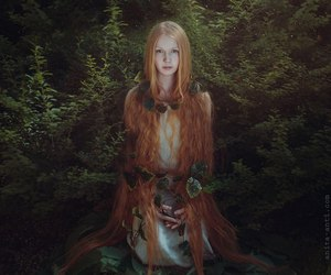 red hair, forest, and ginger image