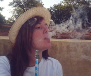 hat, hubbly, and hookah image
