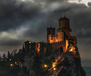 castle, italy, and light image