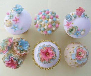 cupcake, pastel, and sweet image