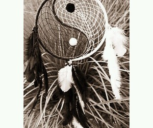 dream catcher and yin yang image