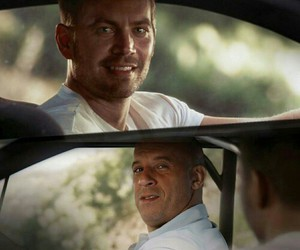 paul walker, Vin Diesel, and fast and furious 7 image