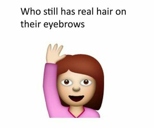 eyebrows, hair, and lol image