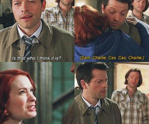 charlie, supernatural, and castiel image