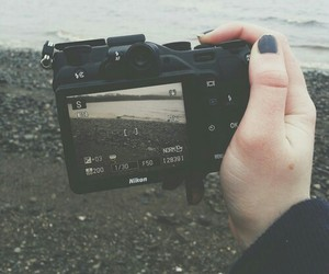 camera, girl, and grunge image