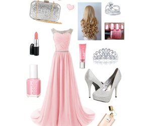 baby pink, dress, and outfit image