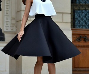 clothes, skirt, and hair image