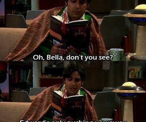 the big bang theory, twilight, and raj image