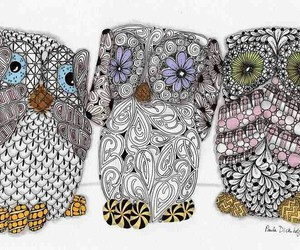 owls, tattoo, and cute image