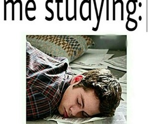 funny, studying, and teen wolf image