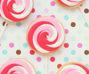 lollipop, pink, and candy image