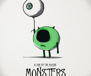monster, tim burton, and eye image
