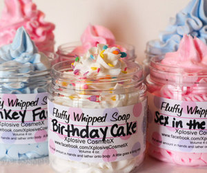 colorful, soap, and cupcake image