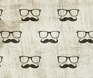 mustache and cool image