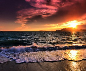 beach and colorful image