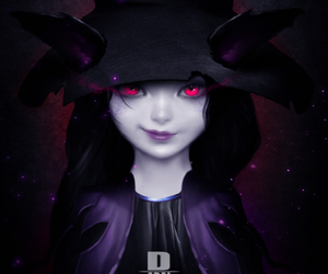 dark and girl image