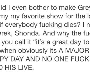 greys anatomy, heart broken, and rant image