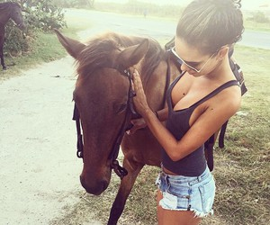 girl, horse, and summer image