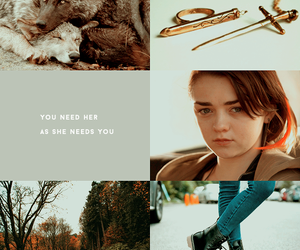 arya stark, game of thrones, and modern game of thrones image