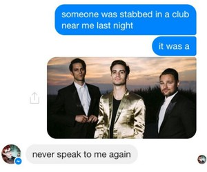 funny, panic at the disco, and text image