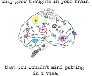 quotes, thoughts, and flowers image
