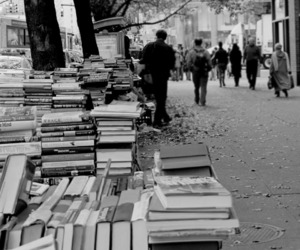 books and street image