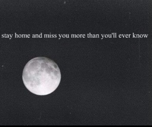 dark, miss you, and moon image