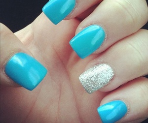 nails, blue, and glitter image