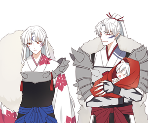 inuyasha, sesshomaru, and family image