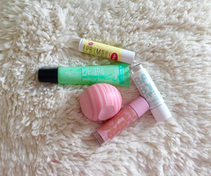 chapstick, eos, and faux image
