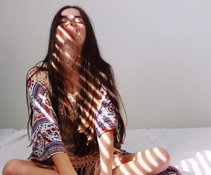 brunette, girl, and indie image