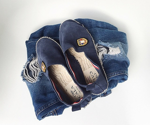 blue, Zara, and fashion image