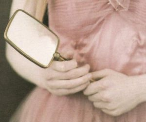 pink, mirror, and pretty image