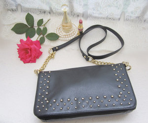 black purse, bohemian, and fall outfit image
