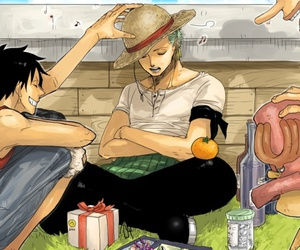 one piece, luffy, and zoro image