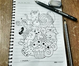 doodle, Easy, and cute image
