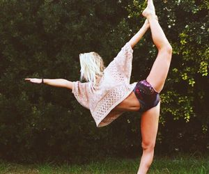 blonde, girl, and yoga image